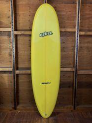 """Rebel Magic Carpet 6'10"""" Surfboard - Yellow"""