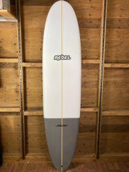 Rebel Mini Mal Surfboard - Grey Tail Dip