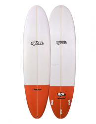 Rebel Mini Mal Surfboard - Red Tail Dip