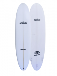 Rebel Mini Mal Surfboard - White