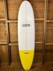 Rebel Mini Mal Surfboard - Yellow Tail Dip