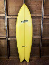 "Rebel Retro Fish 6'6"" Surfboard - Yellow"