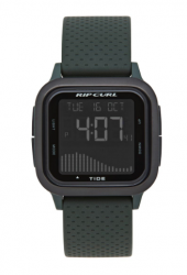 Rip Curl Next Tide Surf Watch in Military Green - Front