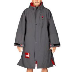 Red Paddle Mens Pro Long Sleeve Change Jacket 2021 - Grey - Front