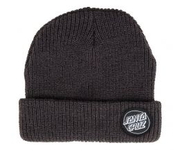 Santa Cruz Men's Outline Dot Beanie - Black - Front