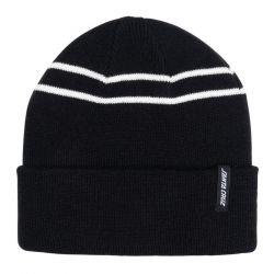 Santa Cruz Double Stripe Beanie - Black