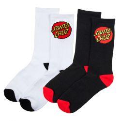 Santa Cruz Classic Dot Socks - 2 Pack
