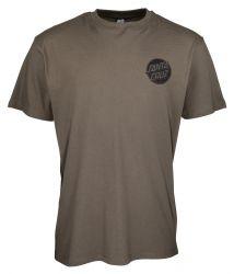 Santa Cruz Contra Dot Mono T-Shirt in Washed Black