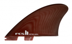 FCS II Retro Keel PG Twin Fins - Red