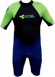 Xcel GCS 2mm Shorty Mens Wetsuit in Ink Blue/Green