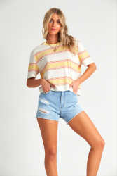 Billabong Womens Soul Babe Tee in Pineapple