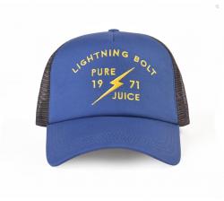 Lightning Bolt Pure Juice Trucker Hat - Blue