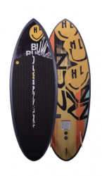 Hyperlite Buzz Wakesurf Board 2021 - Black - Top and Bottom