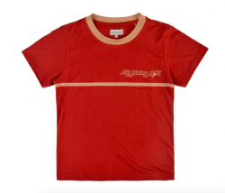 Lightning Bolt Megan Womens T Shirt - Red Ochre