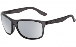 Dirty Dog Quench Polarised Sunglasses - Crystal Black/Silver Mirror