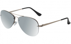Dirty Dog Astro Polarised Sunglasses - Silver/Silver Mirror