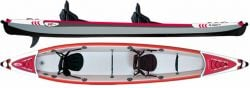 KXOne Zebec 485 Slider Duo Kayak 2021 - Grey/Red - Full View