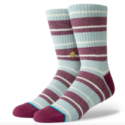 Stance Cope Socks in Maroon