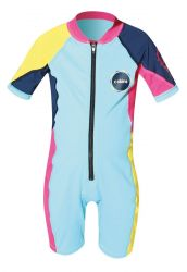 C Skins UV Boys and Girls  Shorty Sunsuit - Pale Blue/Pink