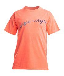 Sex Wax Neon Script Tee Shirt - Orange