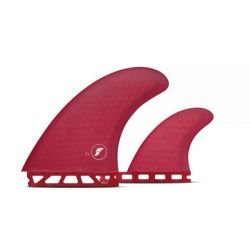 Futures T1 Honeycomb Twin + Trailer Fins in Red