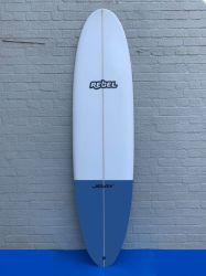 Rebel Mini Mal Surfboard - Blue Tail Dip