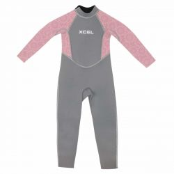 Xcel 3mm Toddlers Summer Wetsuit 2021 -  Graphite/Mesa Rose - Full view