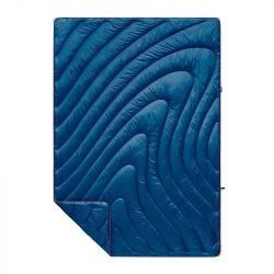Rumpl Solid Puffy Blanket - Deep Water Blue - Full View