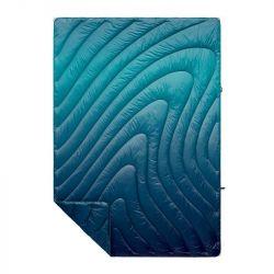 Rumpl Printed Puffy Ocean Fade Blanket - Blue - Full View