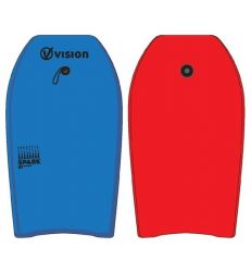 """Vision Spark 27"""" Nipper Bodyboard 2021 - Blue/Red - Top and Bottom"""