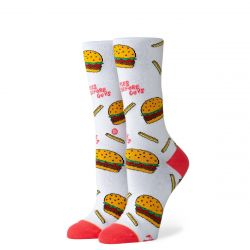 Stance Fries B4 Guys Womens Socks - White