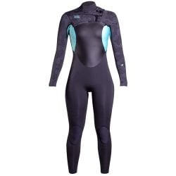 Xcel Axis X 3/2mm Chest Zip Womens Wetsuit - Graphite/Pistachio