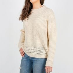 Passenger Hollen Knitted Sweater in Off White - Extra Large