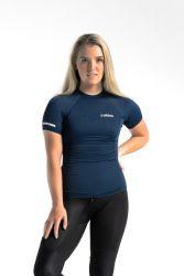 C Skins UV Basics Womens Short Sleeve Rash Vest - Navy