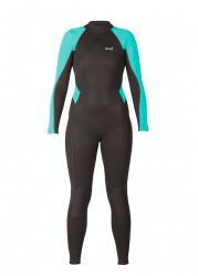Xcel Axis 3/2mm Back Zip Womens All Nylon Wetsuit 2019 - Black/Pistacho