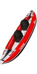 Z-Pro Tango 2 Person Inflatable Kayak 2021 - Red - Full View