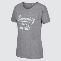 Zone3  Reaching New Limits Womens Tee 2021 - Grey - Front