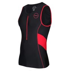 Zone3 Mens Activate Tri Top 2021 - Black/Red