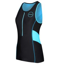 Zone3 Womens Activate Tri Top 2021 - Black/Turquoise