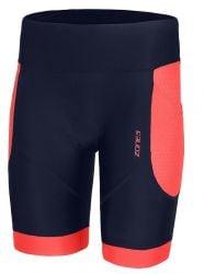 Zone 3 Aquaflo Plus Womens Tri Swim Shorts  2021 - Navy/Coral - Front