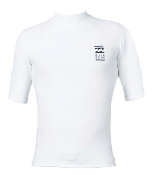 Billabong Fair Weather Mens Lycra Rash Vest - White