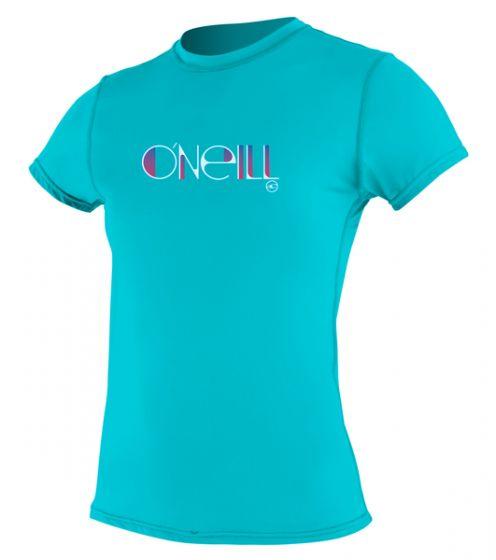 O'Neill WMS Skins S/S Rash Tee - Enamel- 2016