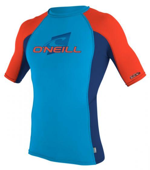 O'Neill Kids Lycra Short Sleeve Rash Vest - Blue - 2016 f