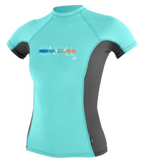 O´Neill Girls Skins S/S Rash Vest 2016 - Green