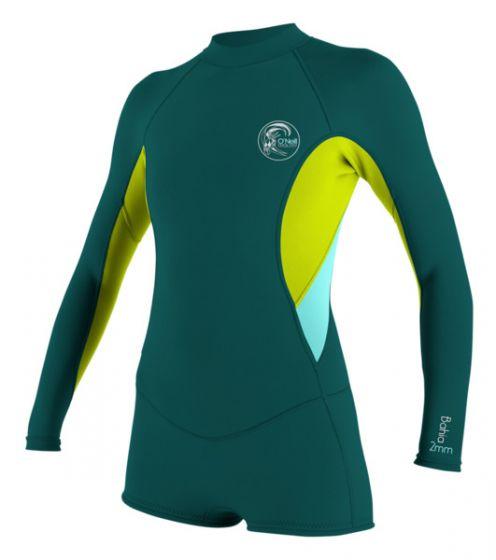 O'Neill Bahia Ladies 2/1mm Long Sleeve Shortie 2016 - Green front