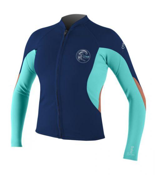 O'Neill Bahia Ladies Full Zip Wetsuit Jacket 2016 front