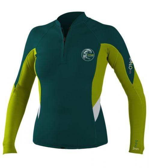O'Neill WMS Bahia Front Zip Jacket - Green - 2016