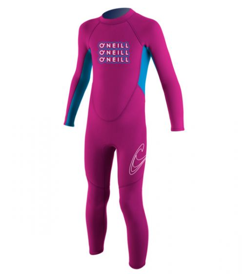 O'Neill Toddlers 2mm Reactor Girls Full Wetsuit 2016 - Berry f