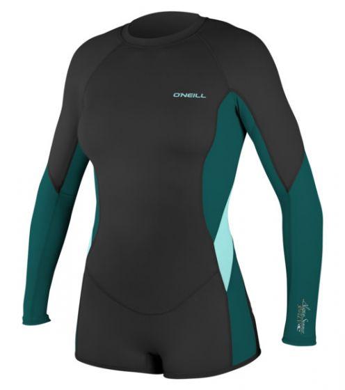 O'Neill WMS Skins L/S Surf Suit - Black Multi - 2016