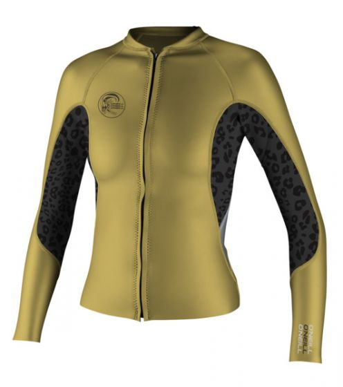 O'Neill Womens O'Riginal Front Zip Wetsuit Jacket - Gold - 2016 f